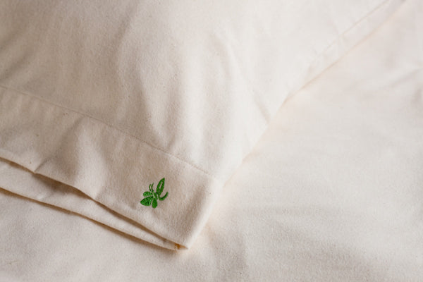 Organic cotton flannel Duvet Cover - Dreamdesigns.ca
