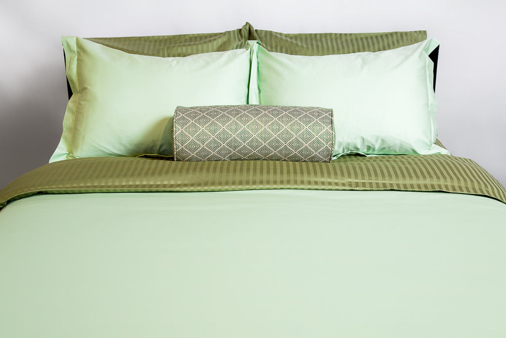 """Shades of Green"" Organic Bedding Collection - Dreamdesigns.ca"