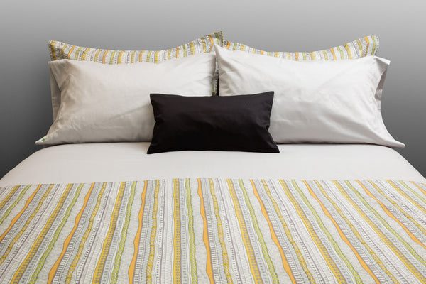 """Tribal"" Organic Cotton Duvet Cover Set - Dreamdesigns.ca"