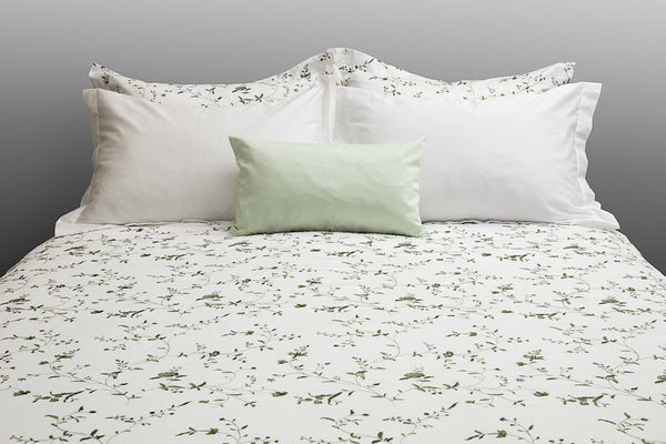 Organic Cotton Duvet Cover Set - Floral Embroidery - Dreamdesigns.ca