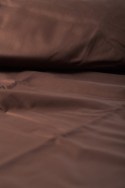 """Java"" Organic Cotton Sateen Flat Sheet - Dreamdesigns.ca"