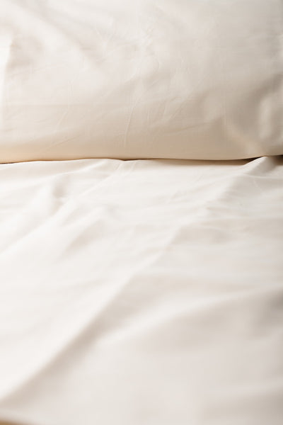 """Natural"" Organic Cotton Sateen Flat Sheet - Dreamdesigns.ca"