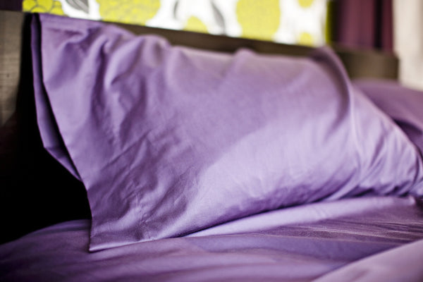 """Coal"" Organic Cotton Sateen Pillow Cases - Dreamdesigns.ca"