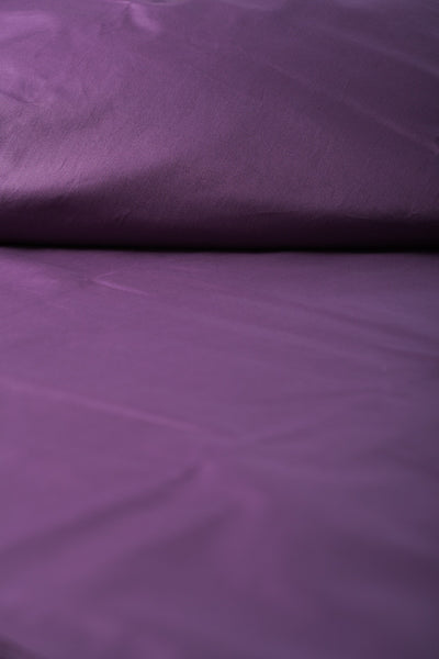 """Violet"" Organic Cotton Sateen Flat Sheet - Dreamdesigns.ca"