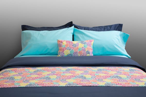 """Mariner"" organic cotton sateen pillow cases & shams"