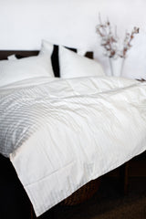 """Taupe"" Organic Cotton Sateen Duvet Cover - Dreamdesigns.ca"