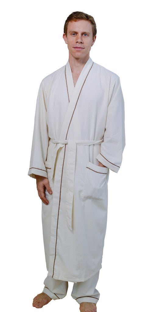 Organic Cotton Flannel Robe - Unisex