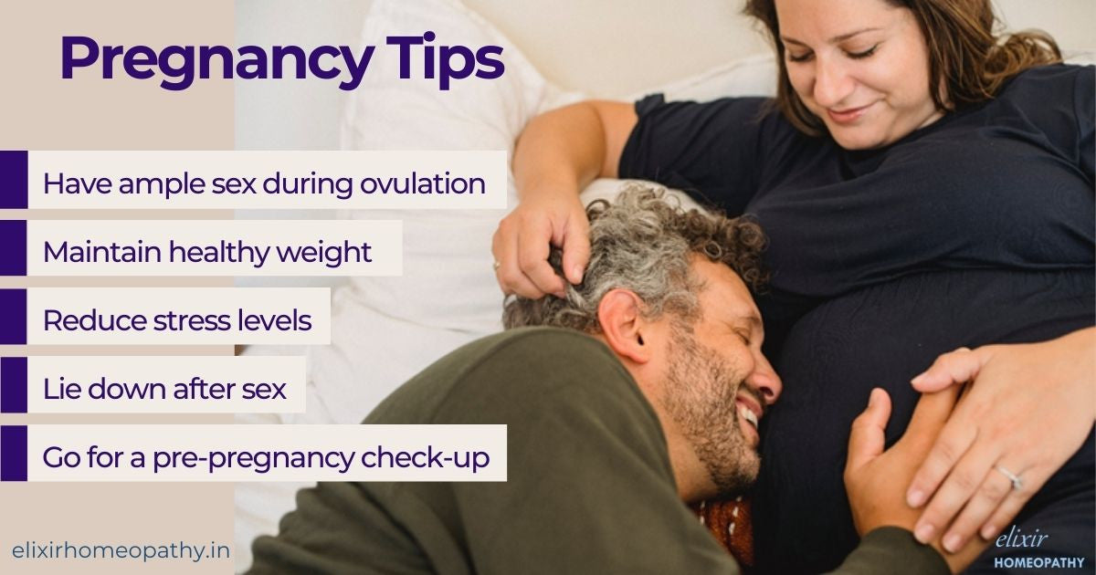 Top five pregnancy tips. Answer on how to get pregnant faster?
