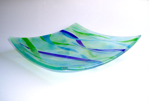 GREEK WATERS Glass platter