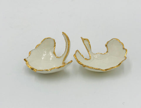 Decorative ginkgo dishes