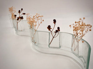 Long Wave Glass Flower vase