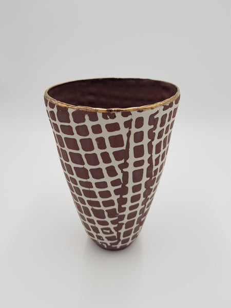Red Tribal Ware Tall Vase