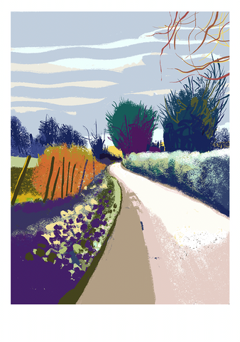 Walking from Great Elm to Frome, iPad drawing