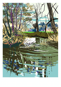 River Frome, iPad drawing