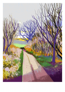 Walking from Frome to Great Elm, iPad drawing