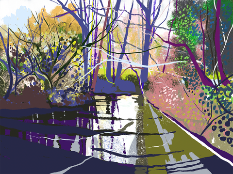 River Frome. iPad drawing