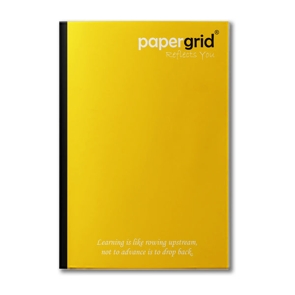 Papergrid Notebook - A4 (29.7 cm x 21 cm), Single Line, 304 Pages, Soft Cover - Pack of 4