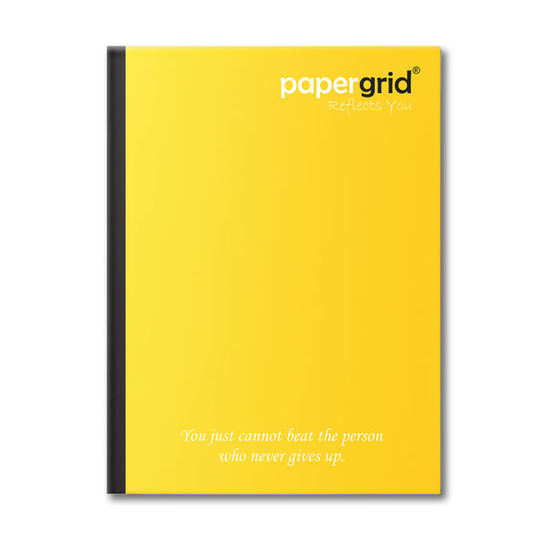 Papergrid Notebook - King Size (24 cm x 18 cm), Double Line, 76 Pages, Soft Cover - Pack of 12