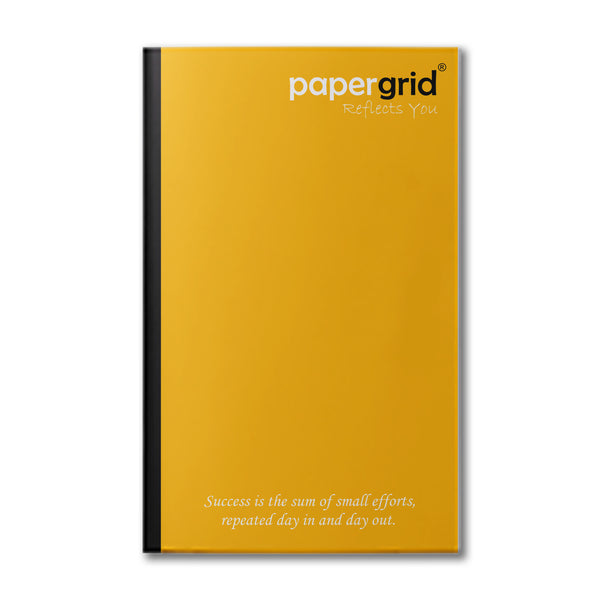 Papergrid Notebook - Long Book (31 cm x 19 cm), Unruled, 160 Pages, Soft Cover - Pack of 6