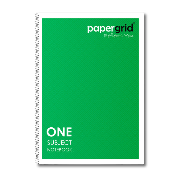 Papergrid Spiral Notebook - A4 (29.7 cm x 21 cm), Unruled, 1 Subject, 160 Pages - Pack of 1
