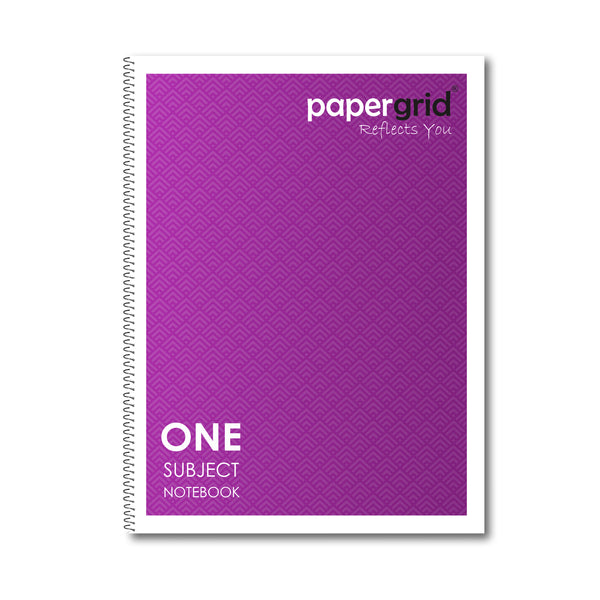 Papergrid Spiral Notebook - 26.7 x 20.3 cm, Single Line, 1 Subject, 160 Pages - Pack of 1