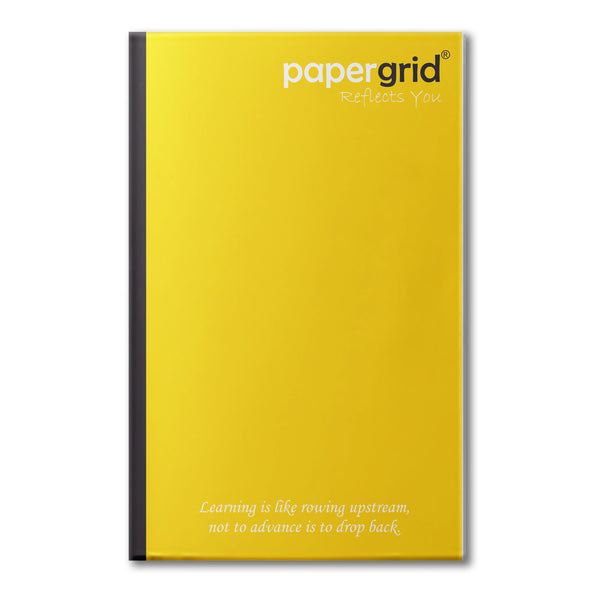 Papergrid Notebook - Ultra Long Book (33 cm x 21 cm), Single Line, 160 Pages, Soft Cover - Pack of 6