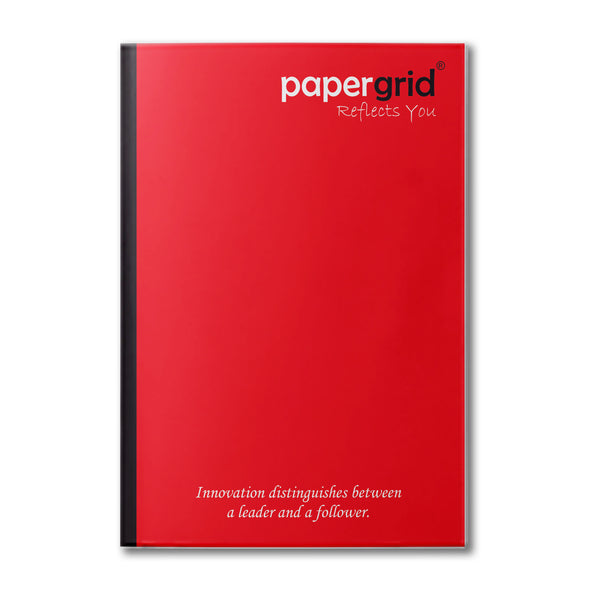 Papergrid Notebook - A4 (29.7 cm x 21 cm), Single Line, 136 Pages, Soft Cover - Pack of 6