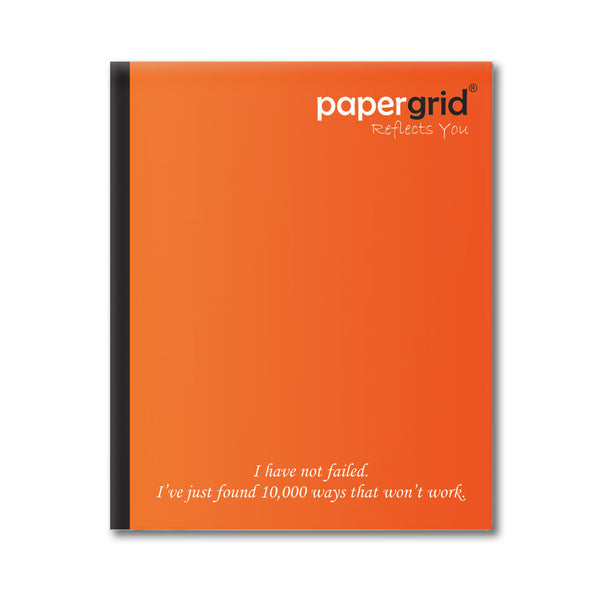 Papergrid Notebook - Short Book (19 cm x 15.5 cm), Four Line, 156 Pages, Soft Cover - Pack of 6