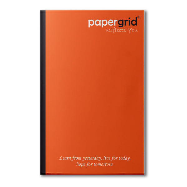 Papergrid Notebook - Ultra Long Book (33 cm x 21 cm), Unruled, 160 Pages, Soft Cover - Pack of 6