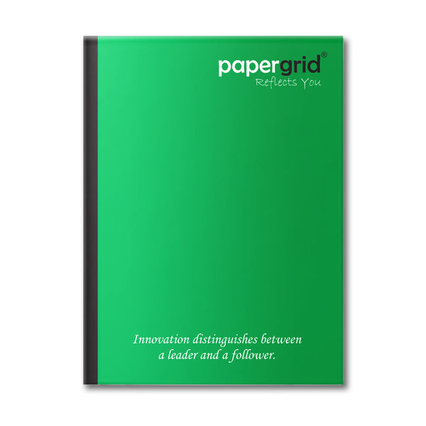 Papergrid Notebook - King Size (24 cm x 18 cm), Unruled, 120 Pages, Soft Cover - Pack of 10
