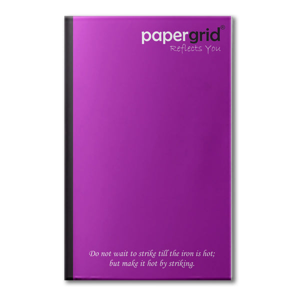Papergrid Notebook - Ultra Long Book (33 cm x 21 cm), Single Line, 220 Pages, Soft Cover - Pack of 6