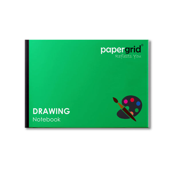 Papergrid Drawing Book - 27.5 cm * 34.7 cm, 32 Pages, Soft Cover - Pack of 6