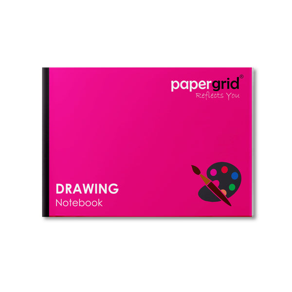 Papergrid Drawing Book - A4 (29.7 cm x 21 cm), 32 Pages, Soft Cover - Pack of 12