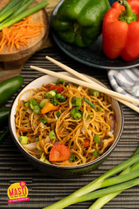 CHINATOWN HAKKA NOODLES w/ GARDEN VEGETABLES