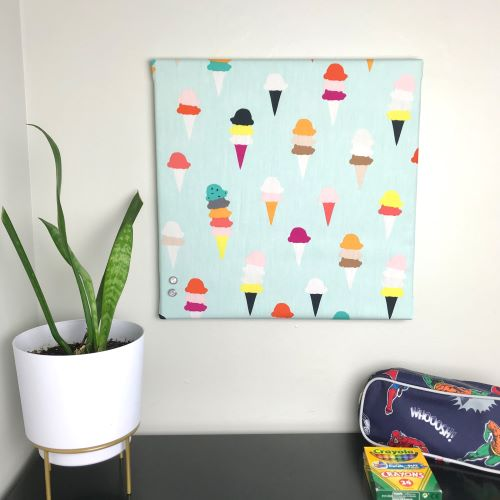 Fat Quarter Friendly Bulletin Board for Remote Learning or Home Office