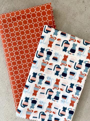 Cool Cats Organic Quilting Cotton from Monaluna's Modern Love collection