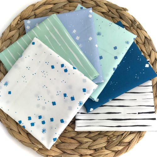 Fat Quarter Bundle of Jenny Ronen Basic's Organic Fabric from Birch