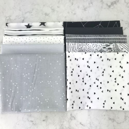 Black and White fat quarters