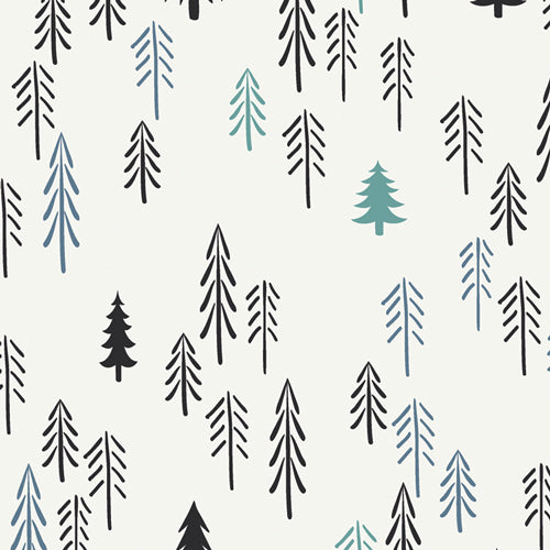 Loblolly Pine, Pine Lullaby Rediscovered, Art Gallery Fabrics (OEKO-TEX), Pine Tree Fabric