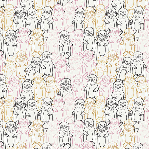 Snuggery Warmth, Pine Lullaby Rediscovered, Art Gallery Fabrics (OEKO-TEX), Otters