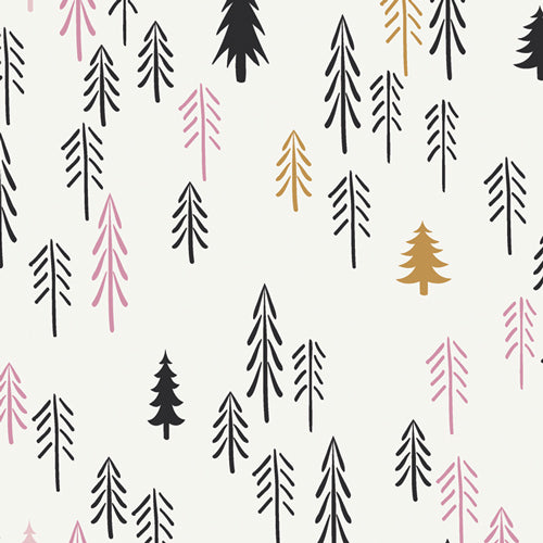 Loblolly Wood, Pine Lullaby Rediscovered, Art Gallery Fabrics (OEKO-TEX), Pine Tree Fabric