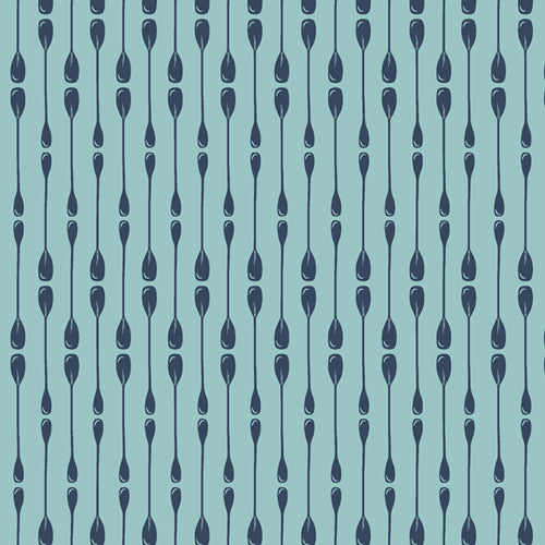 Paddle Rows, Catch & Release, Art Gallery Fabrics (OEKO-TEX) Oars in Aqua