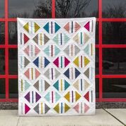 Organic Cotton Quilt made with Cirrus Solids
