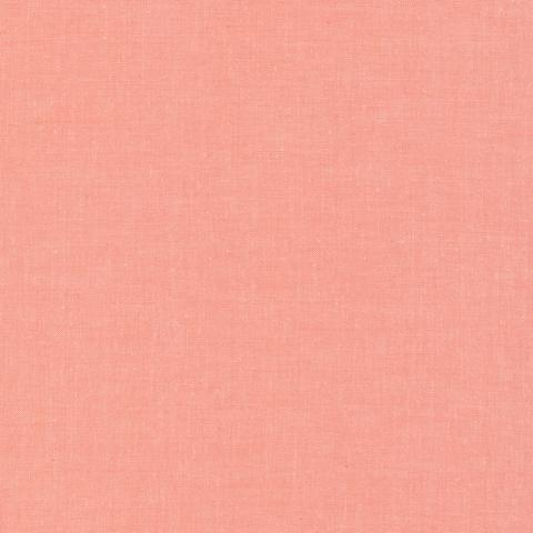 Coral Cirrus Solids, Cloud9, Organic Cotton Fabric