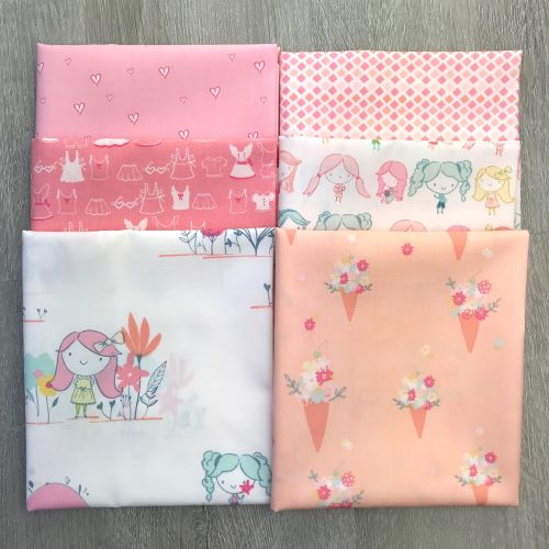 Daydream fat quarter bundle pink colorwaay
