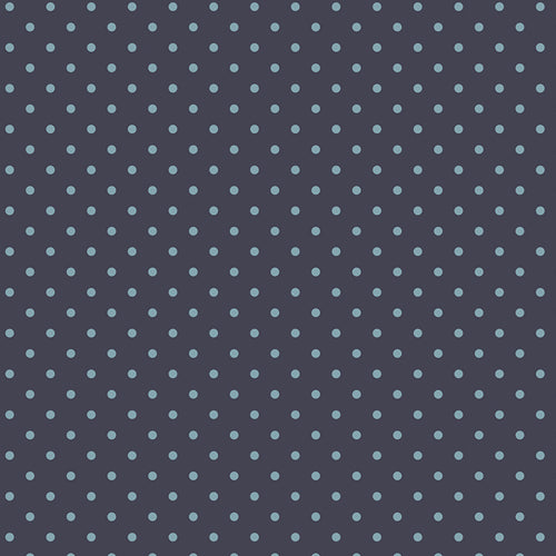 Les Petits Dots Midnight, Amy Sinibaldi, Art Gallery Fabrics (OEKO-TEX) Navy Polka Dot Fabric