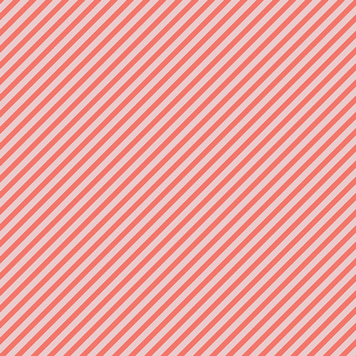 Petits Strokes Coral, Les Petits, Amy Sinibaldi, Art Gallery Fabrics (OEKO-TEX), Pink and Coral Bias Stripe Fabric