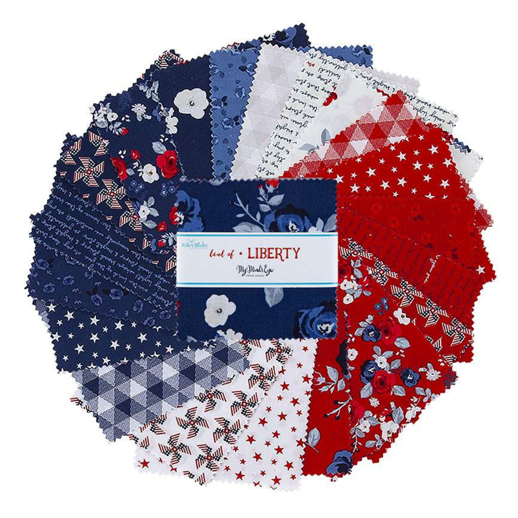 "Land of Liberty by My Mind's Eye 5"" Stacker (charm pack)"