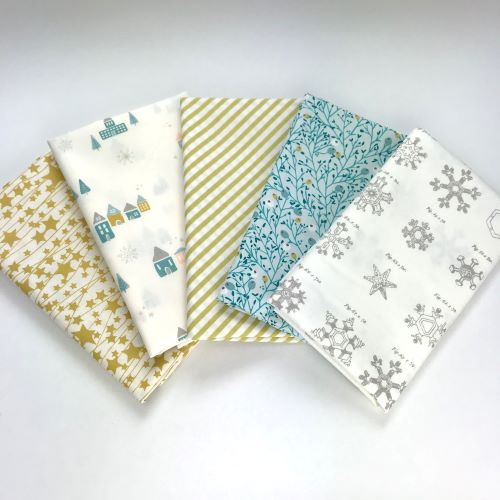Little Town fat quarter bundle of fabrics