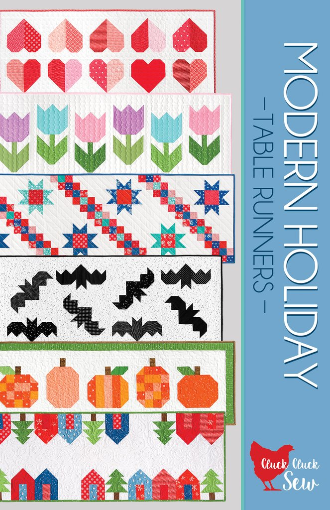 Modern Holiday Table Runners Pattern from Cluck Cluck Sew